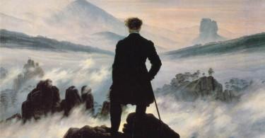Caspar David, O viajante sobre o mar de névoa
